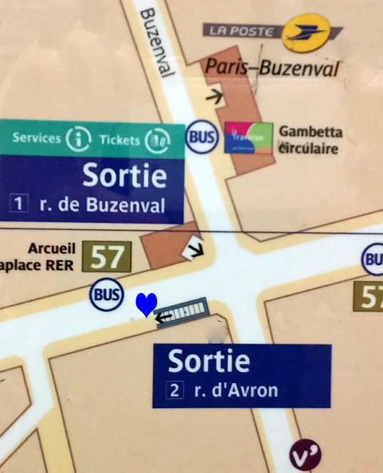 Paris metro sortie, exit, Buzenval
