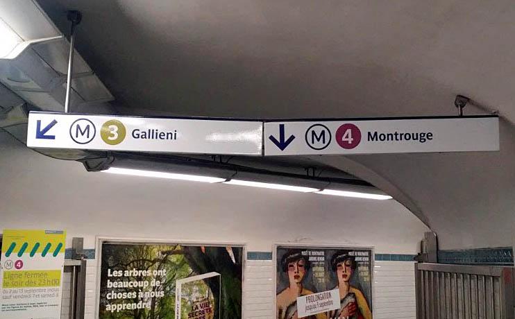 パリ 地下鉄 メトロ 標識