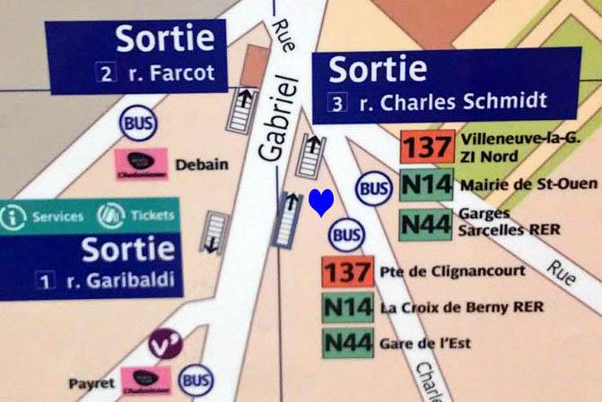 Paris metro sortie, exit, Garibaldi