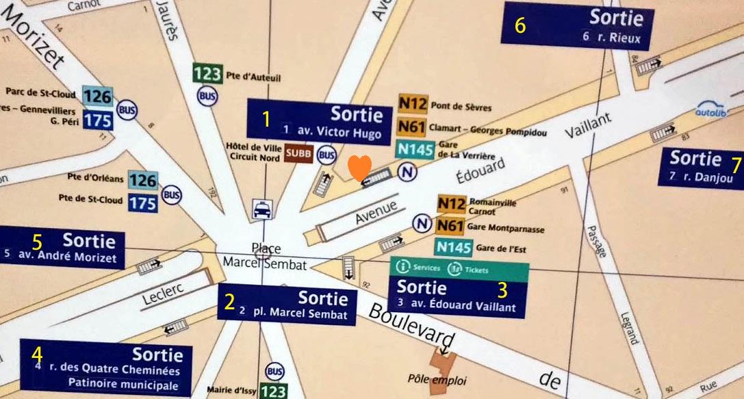 Paris metro sortie Marcel Sembat