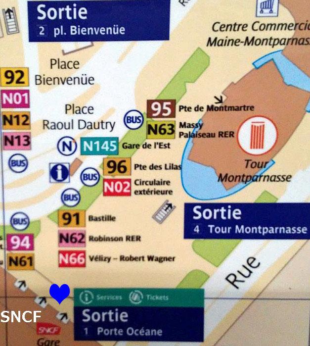 Paris metro sortie, exit, Montparnasse